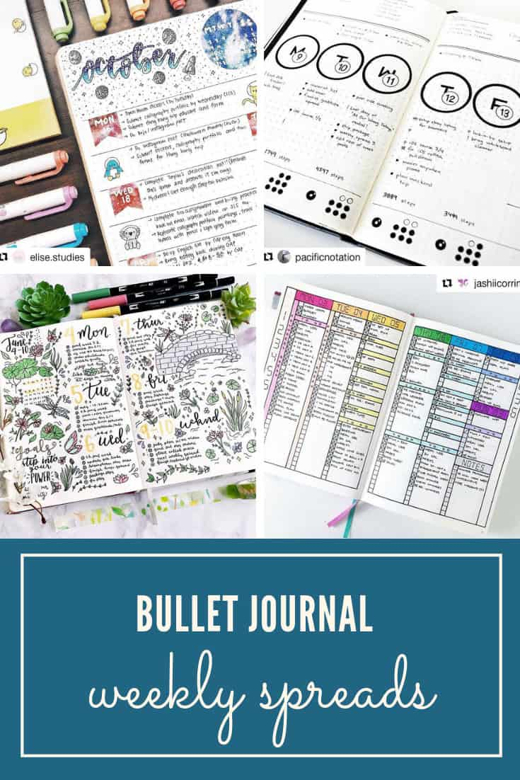 Bullet Journal Weekly Spreads to Inspire Creativity