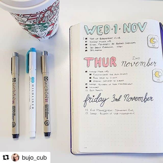 Bullet Journal Weekly with Weather