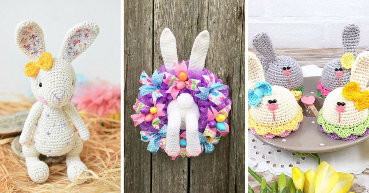 17 Adorable Bunny Crochet Patterns That Are Perfect For Easter