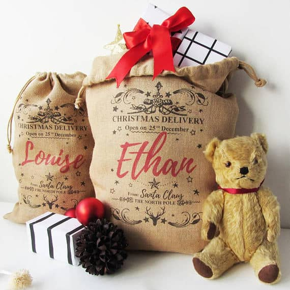 Burlap Personalized Sack