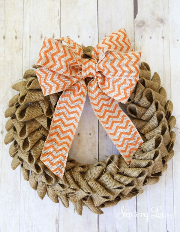 Burlap Wreath Ideas for Fall 1