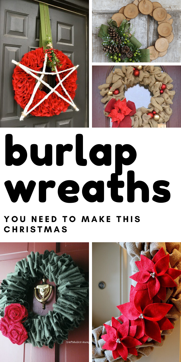 Welcome your guests into your home this Holiday season with a beautiful Christmas burlap wreath that you can DIY this weekend