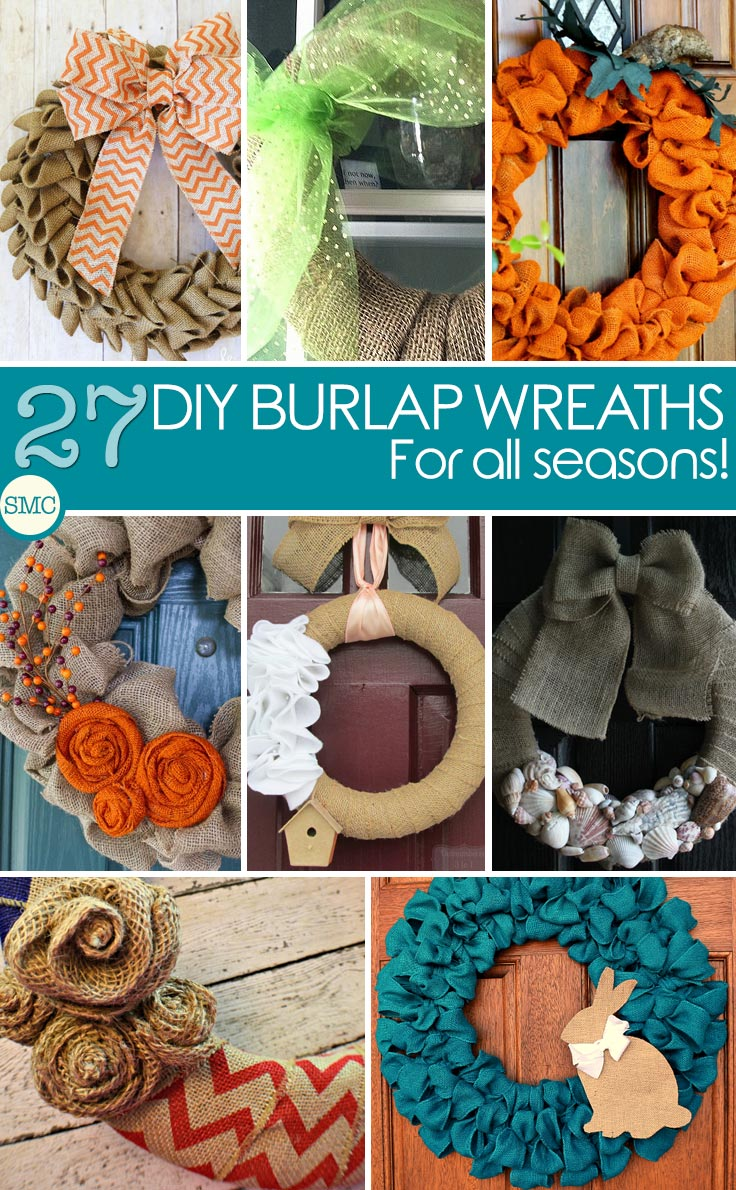 These burlap wreaths are gorgeous and look so simple to make too! Click on the image to see the tutorials.
