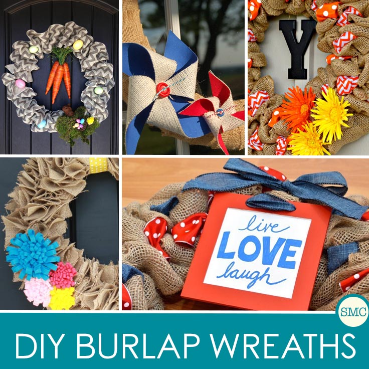 Make your front door look welcoming at any time of year with these gorgeous DIY burlap wreaths!