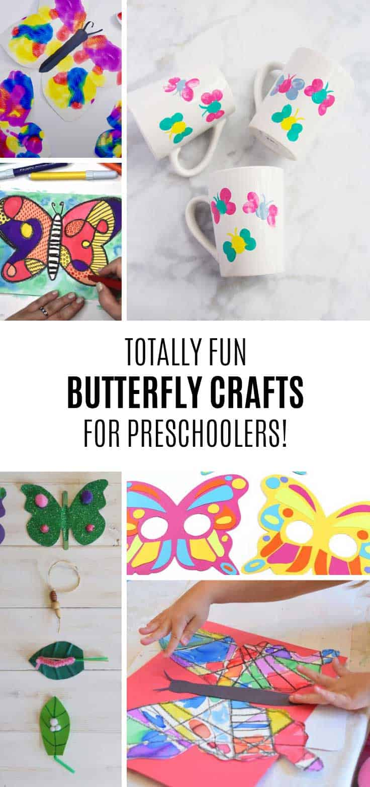 Loving these butterfly crafts for preschoolers!