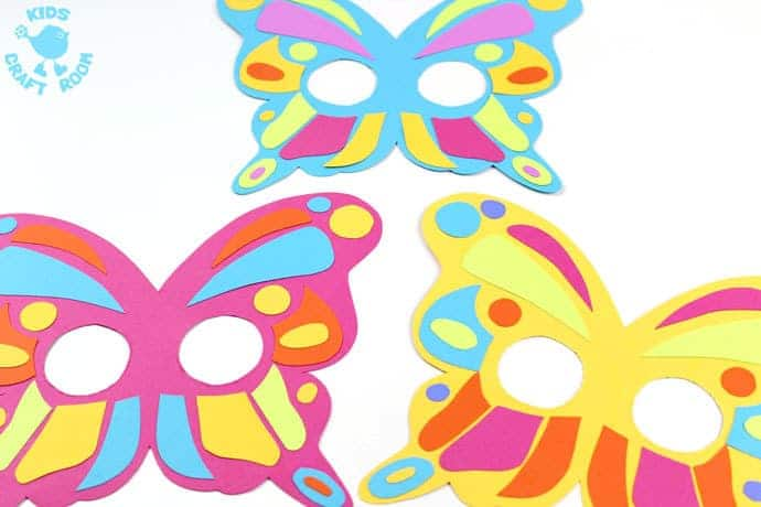 Colourful Butterfly Masks