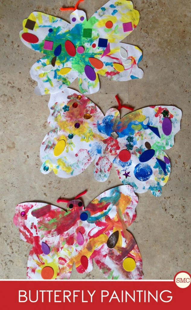 These butterfly paintings are so much fun and simple enough for the youngest of toddlers!