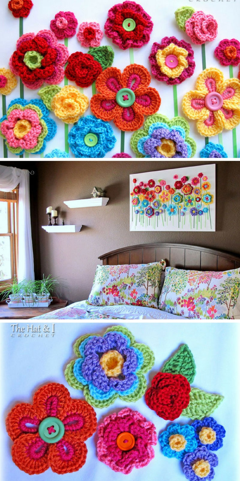 Button Crochet Wall Hanging - Pinterest