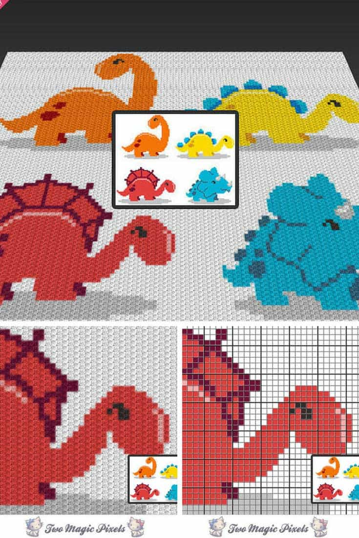 Sleeping Baby Dino Free Crochet Pattern | Crochet patterns ... | 1102x735