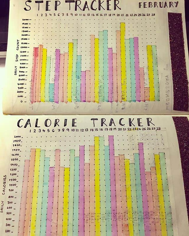 Bullet Journal Calorie Tracker