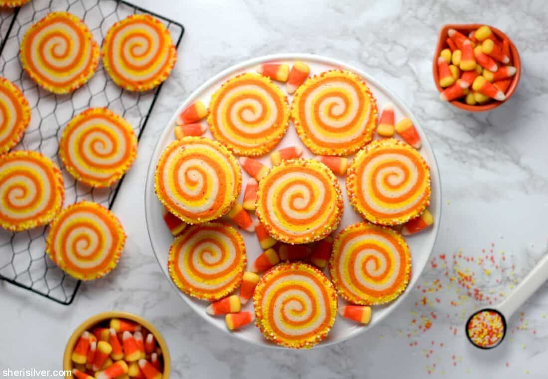 Candy Corn Spiral Cookies