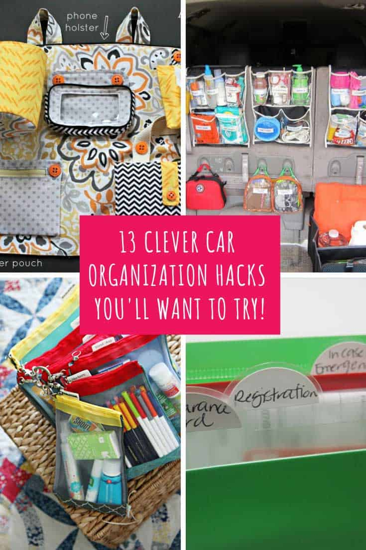 These car organization ideas will take you from junk-mobile to perfectly organized mom-mobile in a weekend!