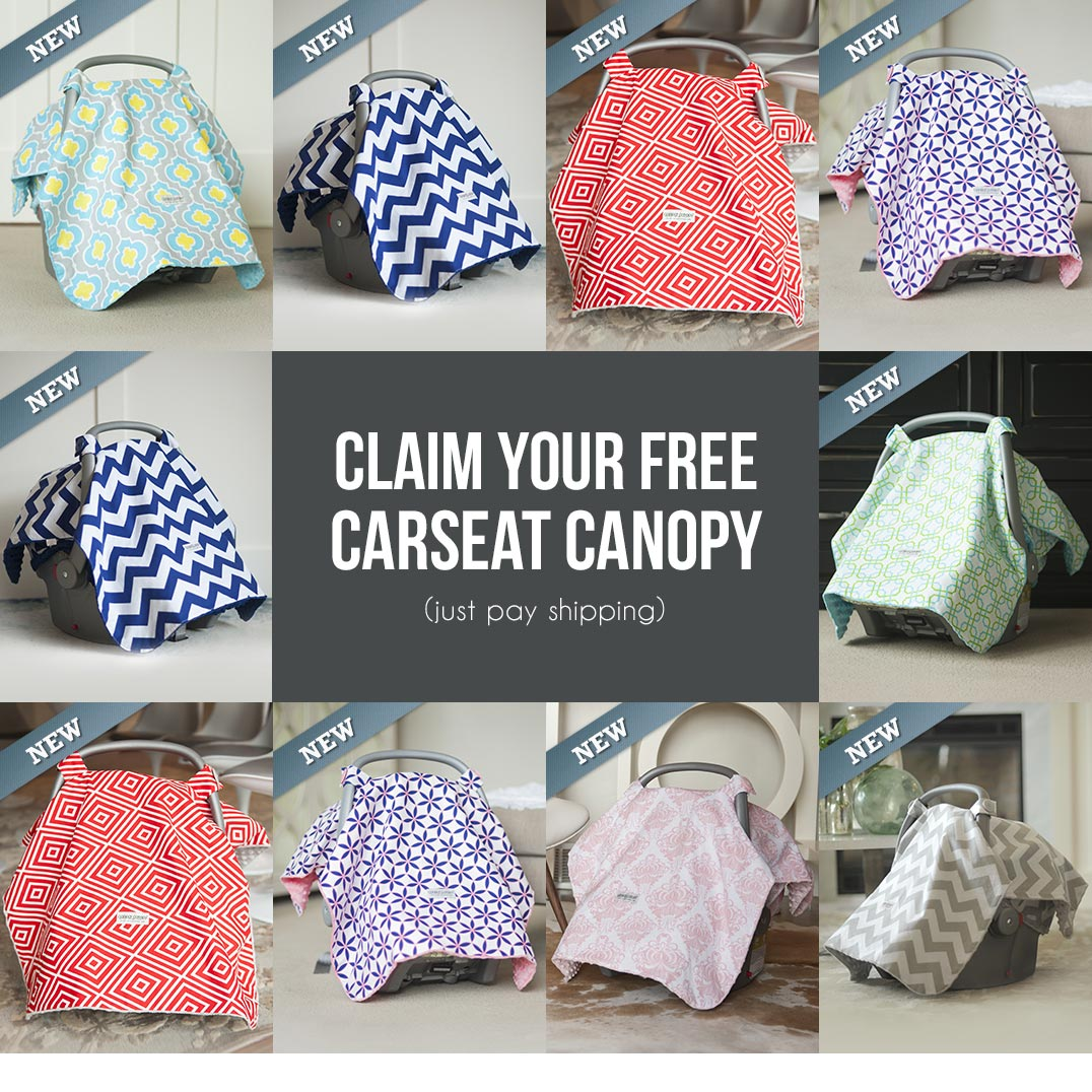Claim your free carseat canopy - perfect for keeping baby away from strangers who want to prod and poke them!