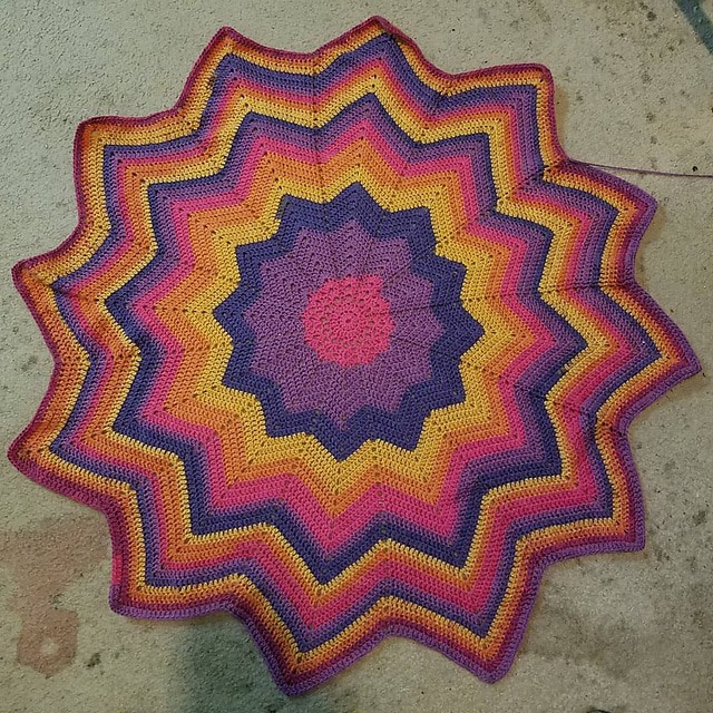 Caron Cakes 12 Point Star Blanket