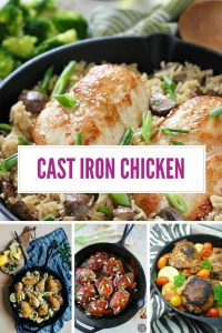 These cast iron chicken recipes taste AMAZING and the whole family will enjoy eating them!