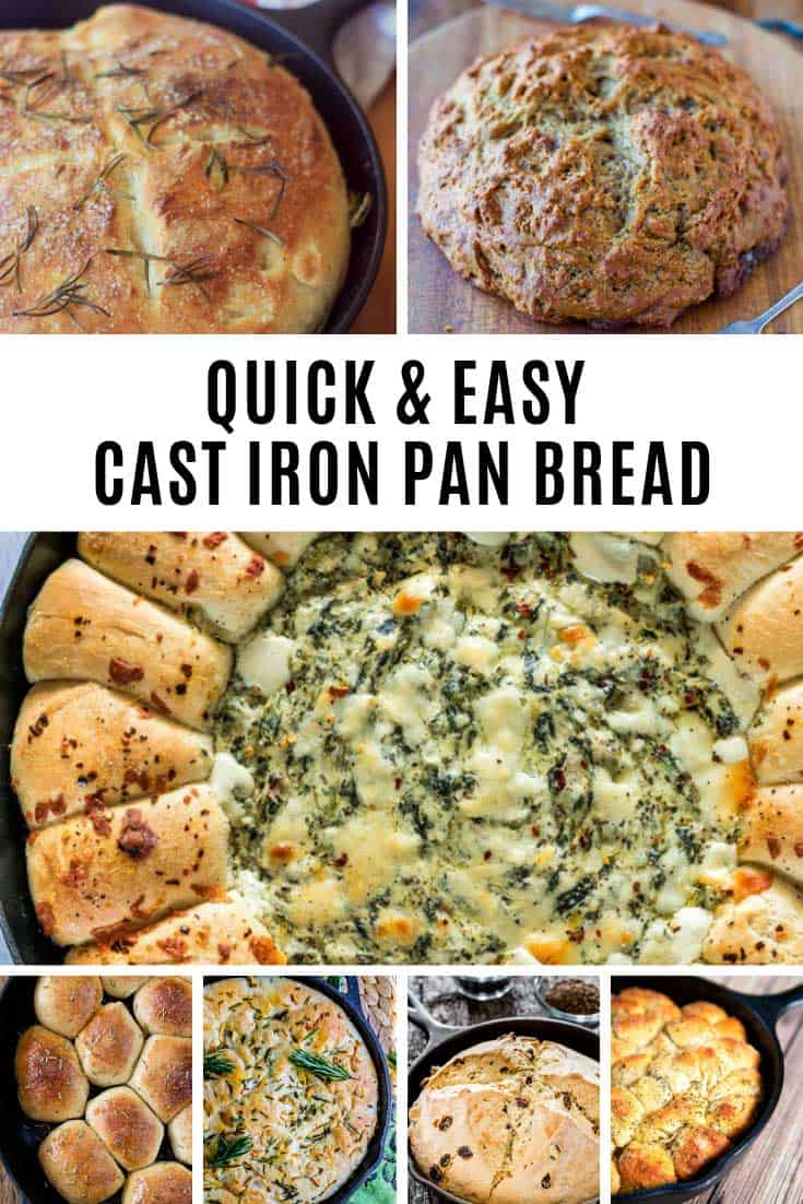 These cast iron pan bread recipes are super quick and easy and taste as good as they look!