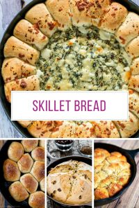 Who knew you could bake such AMAZING bread in a cast iron skillet!