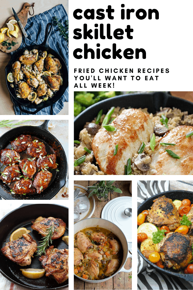 Oh my goodness - beg, steal or borrow a cast iron pan (your granny is sure to have one) because you need these skillet chicken recipes on your meal plan!