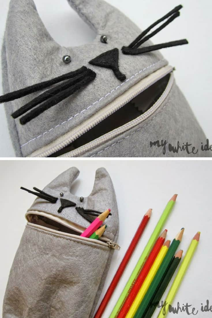 Cat Pencil Case DIY