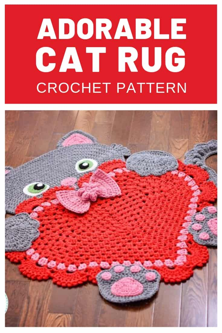 How ADORABLE Is that cat crochet rug! My little girl is going to go crazy when I finish making one for her bedroom!