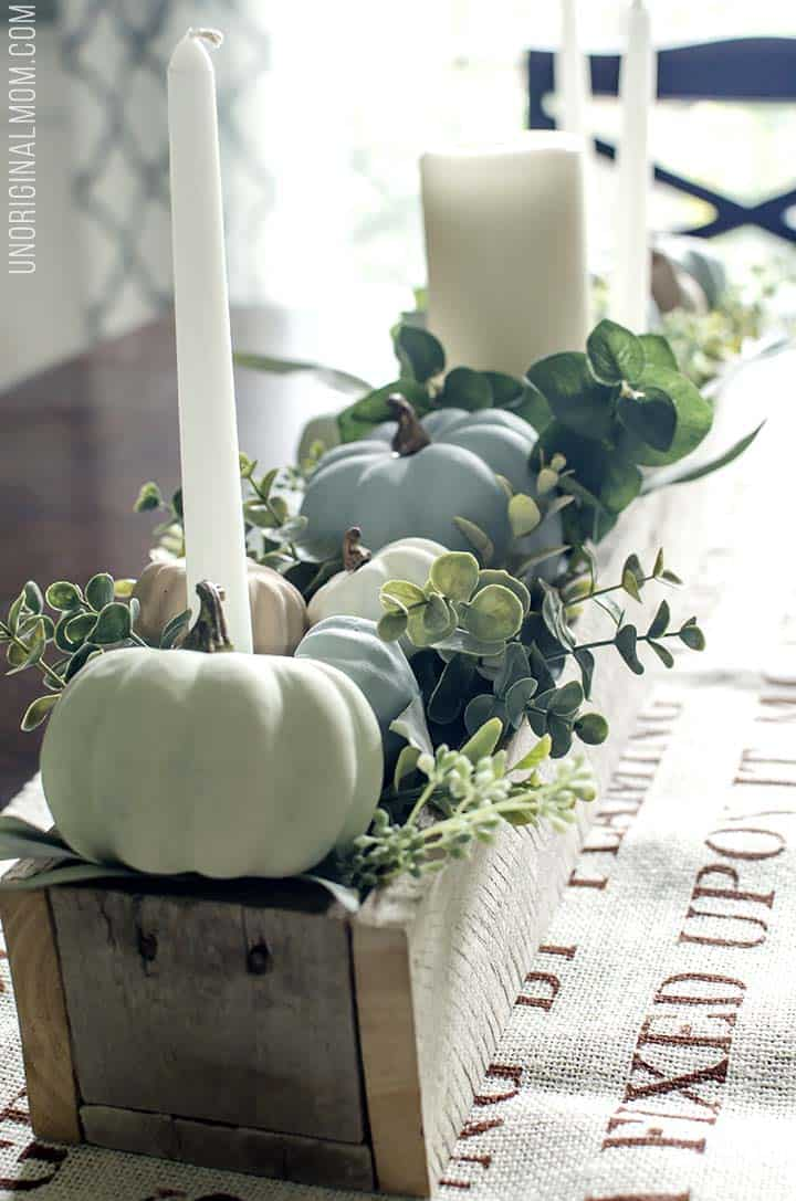 Chalk Fall Pumpkin Centerpiece