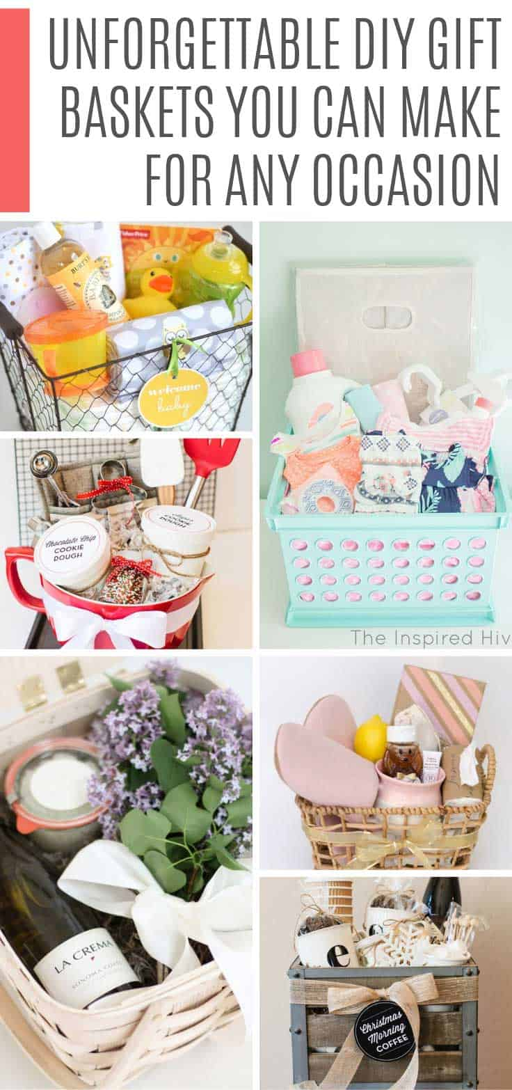 Looking for cheap homemade gift basket ideas? This list has more ideas than you could wish for - perfect for all occasions and fundraisers!