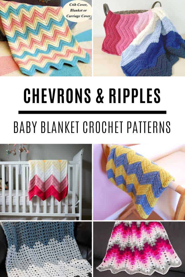 Loving these crochet baby blankets - all chevrons and ripples!