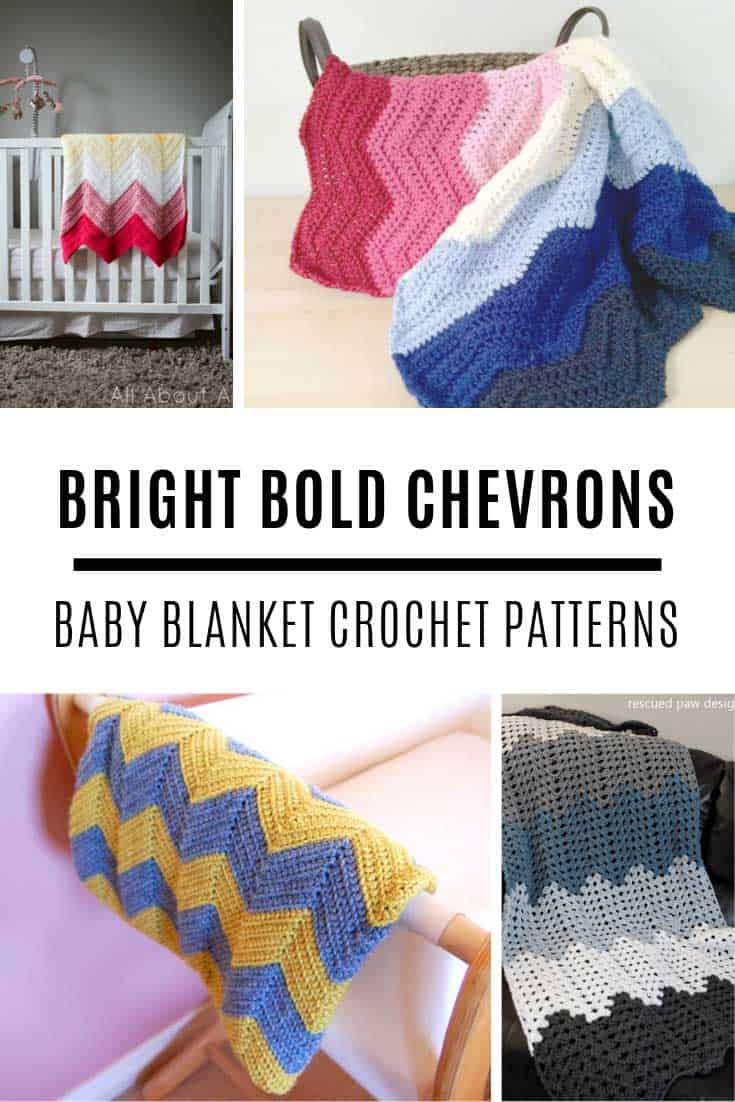 Chevron Crochet Baby Blanket Patterns {They're bright and bold!}