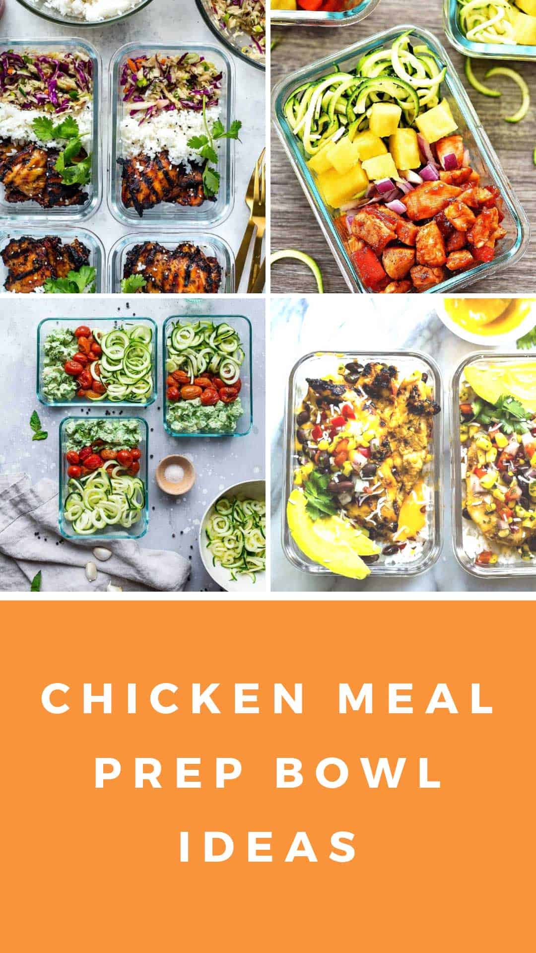 These chicken meal prep bowl recipes are tasty and healthy and will see you through the week without getting bored! #mealprep