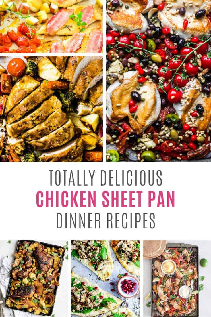 Loving these healthy chicken sheet pan dinner recipes!