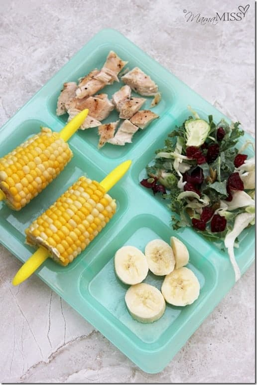 Kale, Corn, and Grilled Chicken Salad