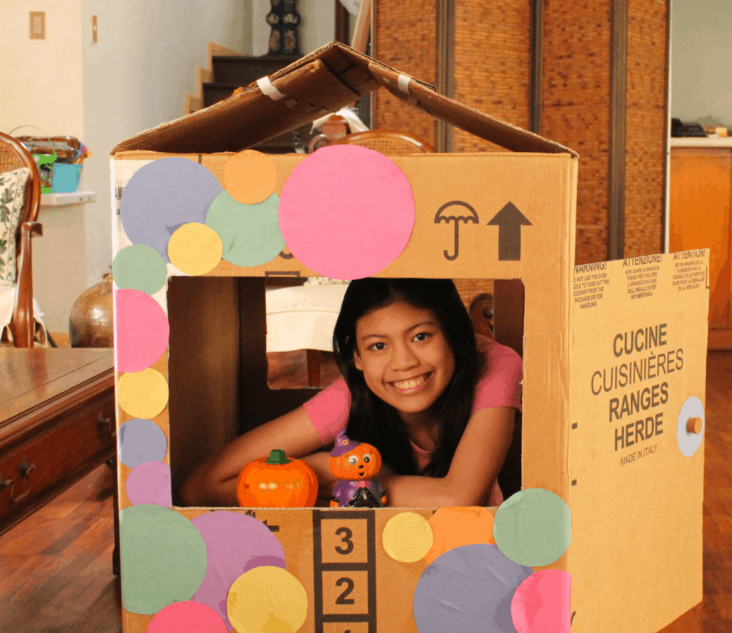 Children Cardboard Playhouses