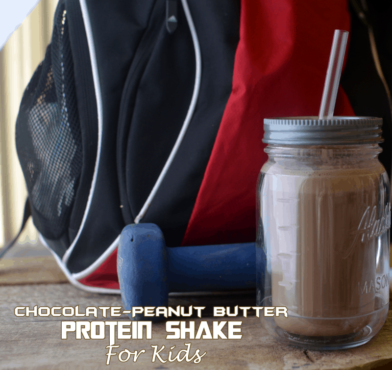 Chocolate Peanut Butter Protein Shakes Kids