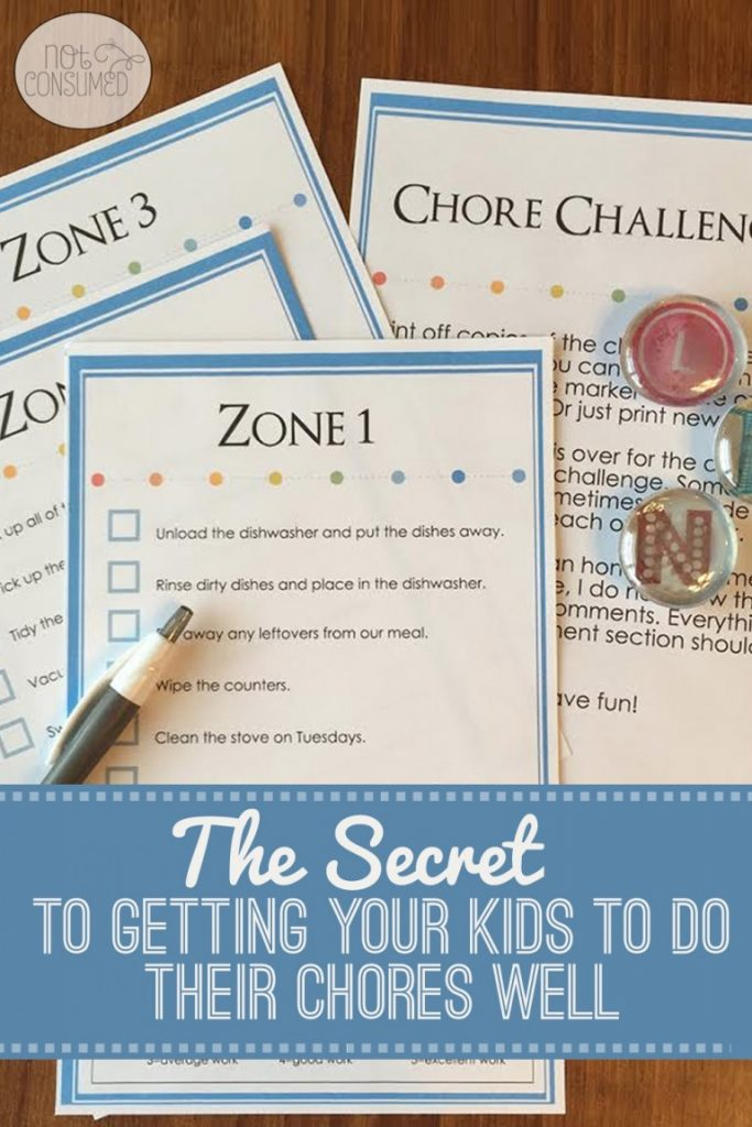 Household Chore Charts | Free Printable Charts for Children | Kid