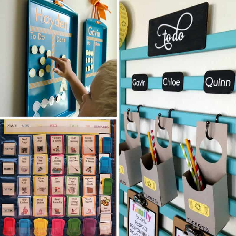 So many great chore chart ideas here!