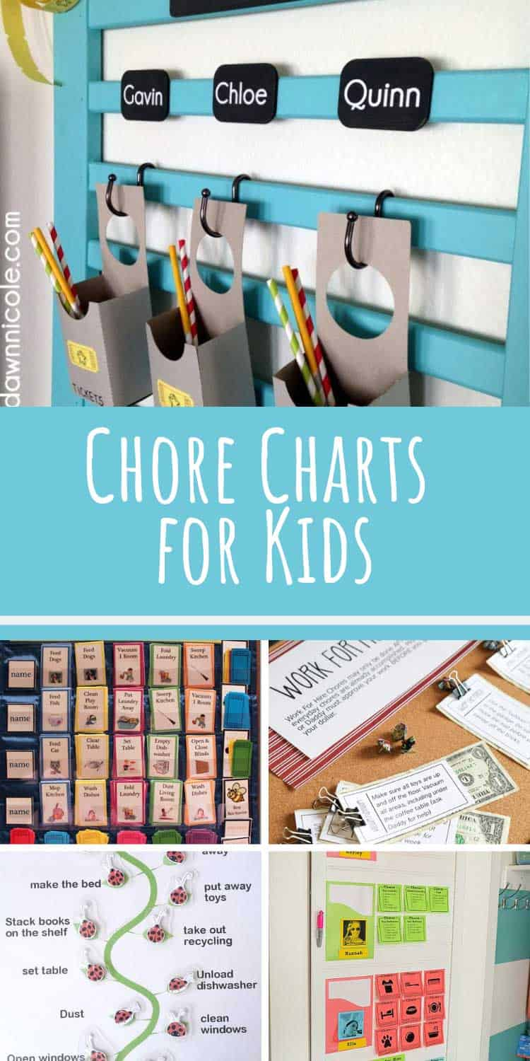 These chore charts for kids might finally get the children to help around the house!