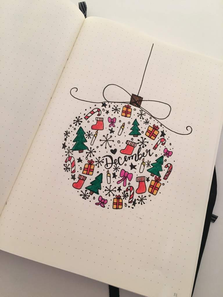 Christmas Bauble December Cover Page