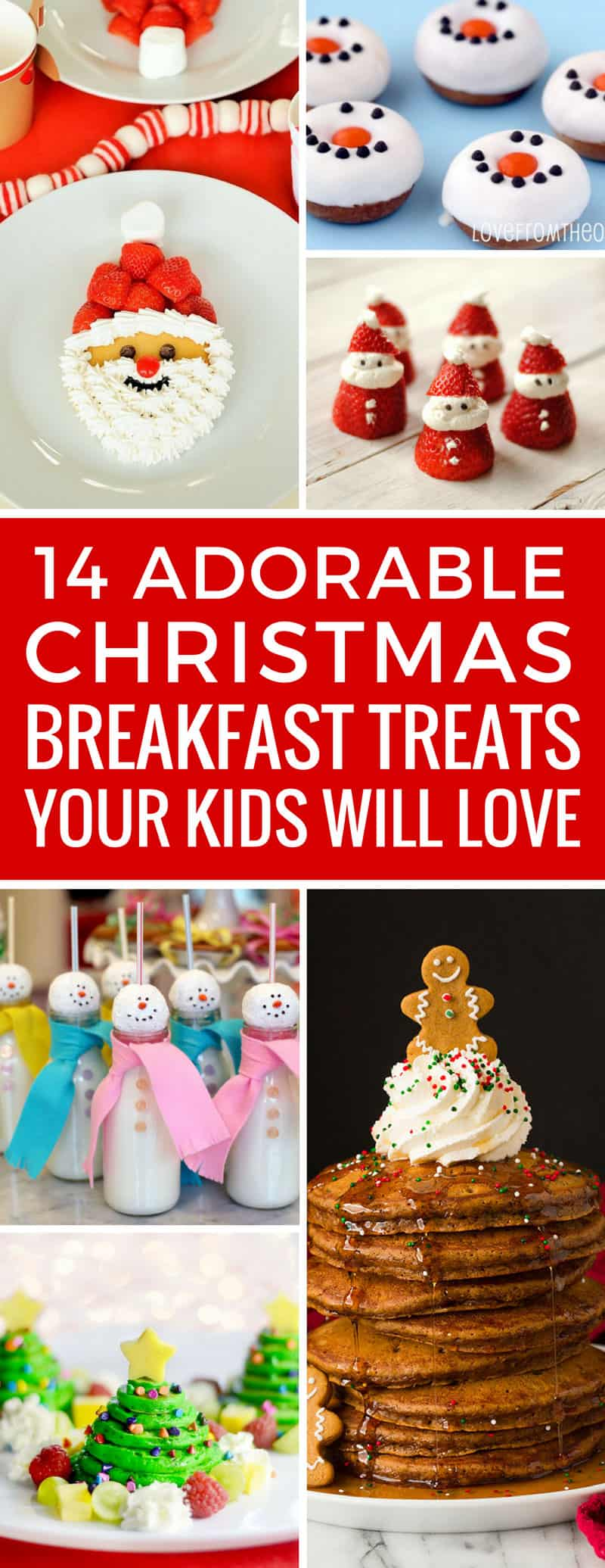 Oh my - how cute are these Christmas breakfast treats! The kids are going to go crazy for these - and might actually start eating breakfast! Thanks for sharing!