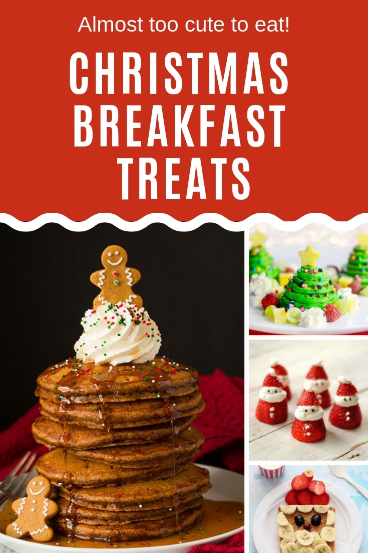 Get a festive start to your day with one of these adorable Christmas breakfast treats that your kids will love!