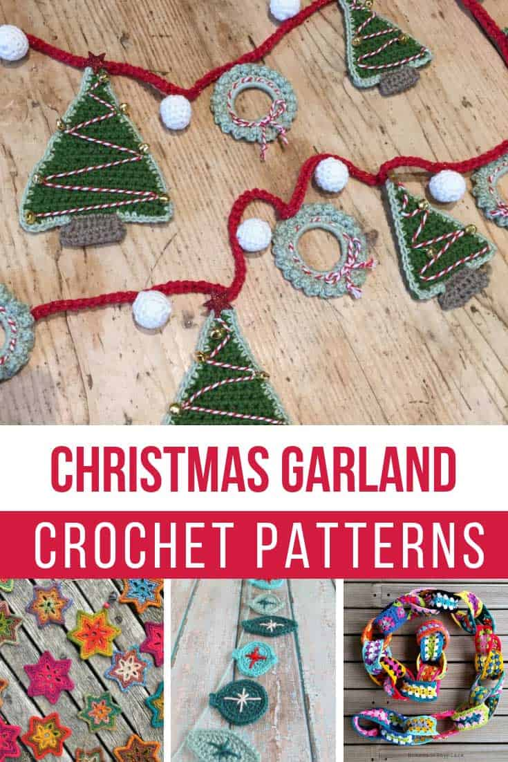 You can't have Christmas decor without festive bunting and these free crochet patterns are just what I needed to make some!