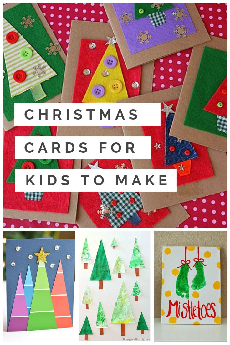 Homemade Christmas Cards for Kids {That will totally melt Granny's heart!}