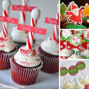 How cute are these cupcake toppers! Now no one will notice I bought my cupcakes at the store! Thanks for sharing!