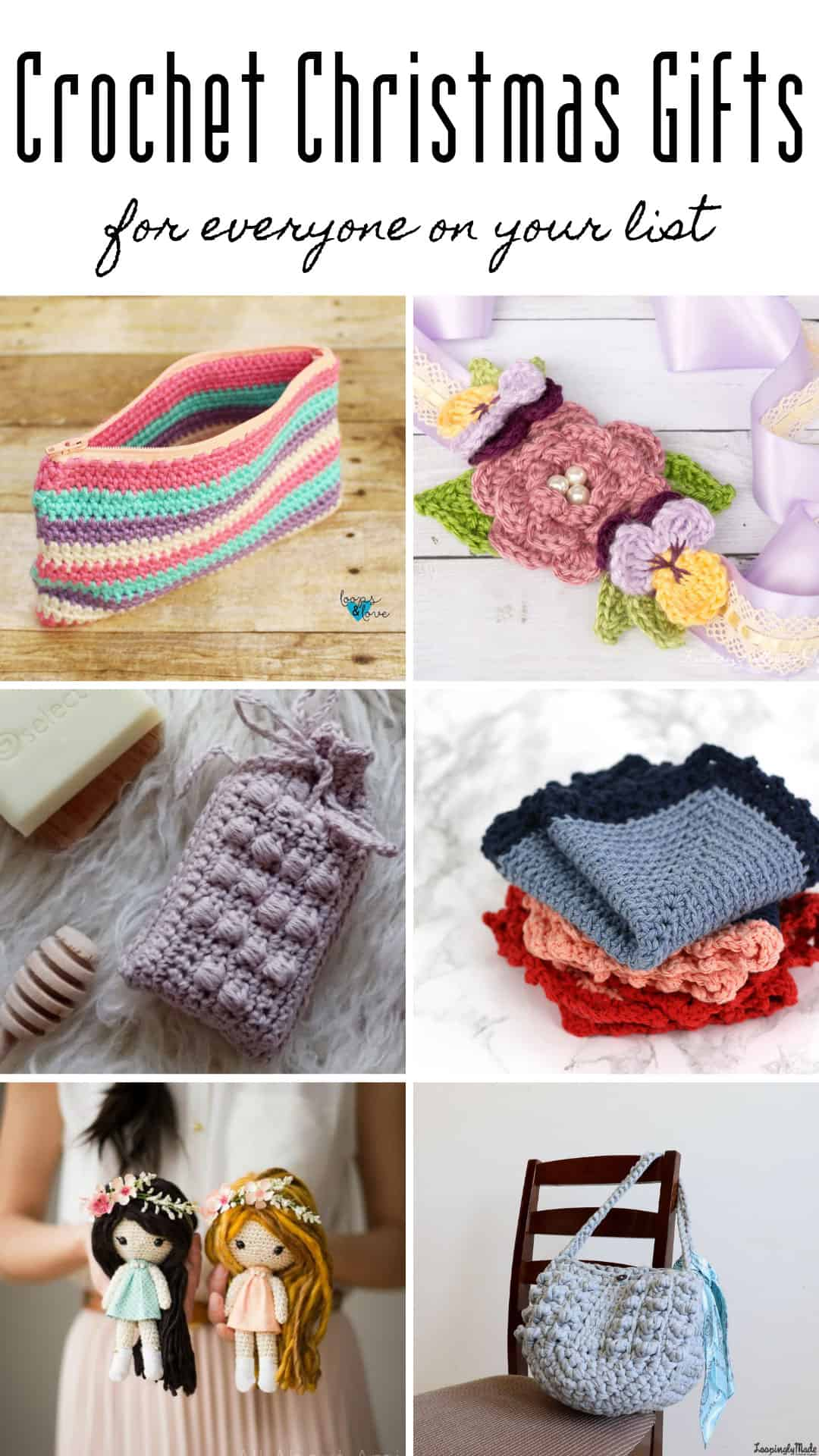 These Christmas gifts to crochet are fabulous and there really is something here for everyone!