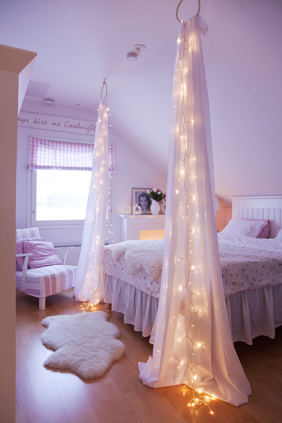 Lighted Bed Canopy with a Twist