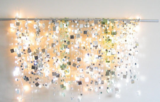 Decorate Your Bedroom with a Sparkle Mirror Garland