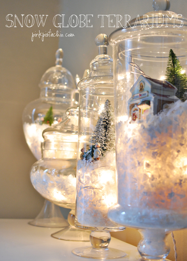 Turn Apothecary Jars into a Winter Wonderland