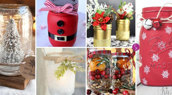 FABULOUS Christmas Mason Jar Crafts for the Holidays!