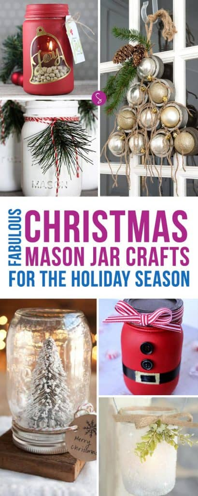 LOVE these Christmas mason jar crafts - so many great ideas for the Holidays!