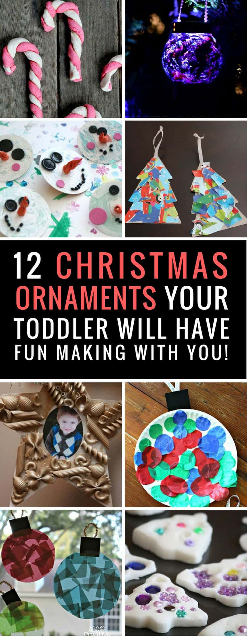 These Christmas ornaments for toddlers to make are so adorable and such fun to make - you need to try some of them!