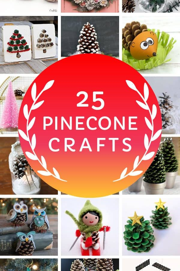 Loving these Christmas pinecone crafts and ideas to DIY this Holiday season! #christmas #christmasdecor #christmascrafts